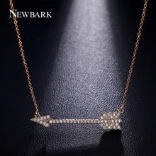NEWBARK Trendy Love Cupid s Arrow Pendant Necklaces Vintage Link Chain Necklace Cubic Zirconia New Fashion