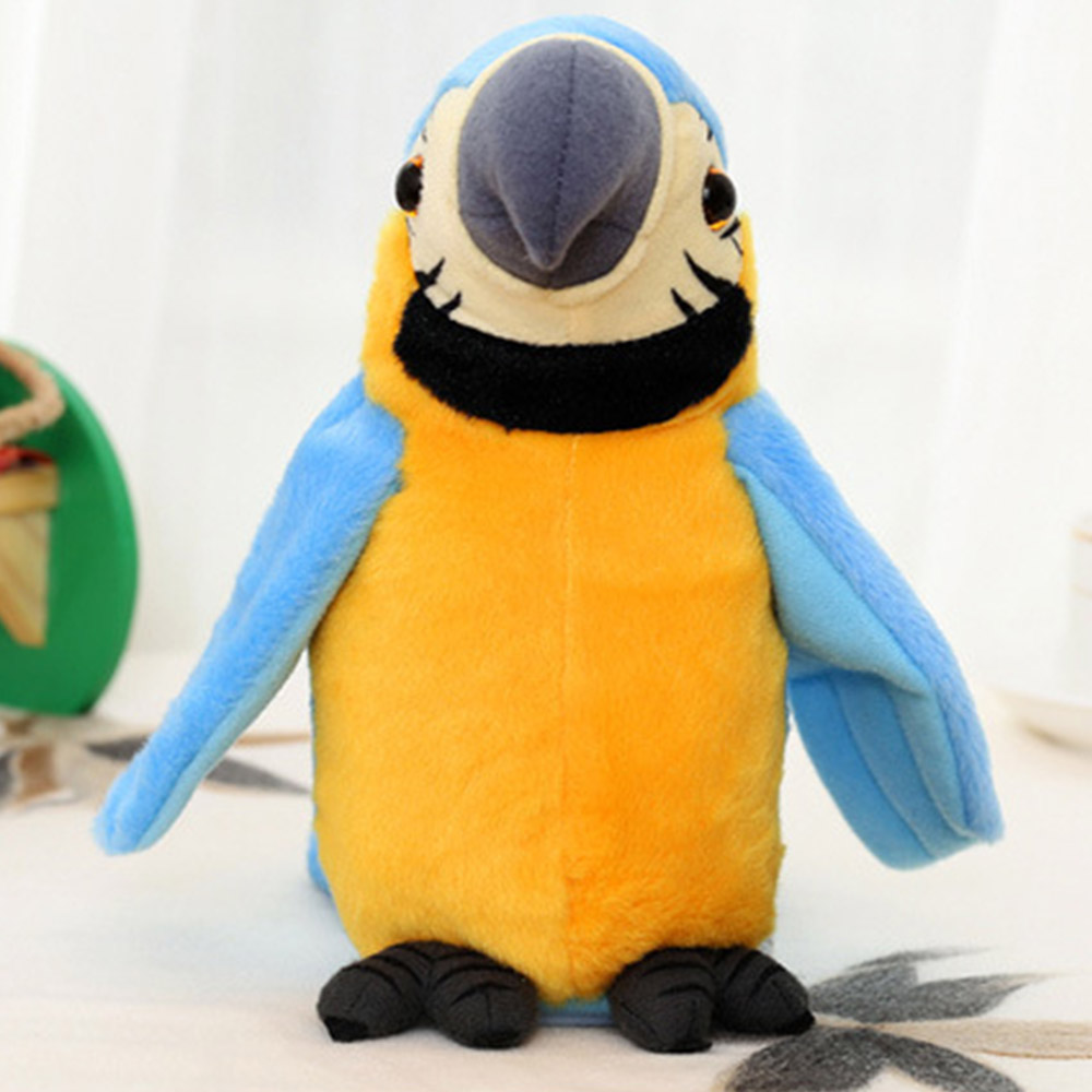 Kids Electronic Pets Talking Parrot Toys  Funny Sound Record Plush Parrot Christmas Gift For Children Educational Toys