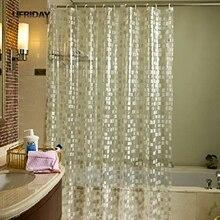 UFRIDAY Glitter Cube Muster Duschvorhang Wasserdicht Mildewproof PVC Bad  Vorhang Moderne Funkelnden Mosaiken Badezimmer Vorhänge