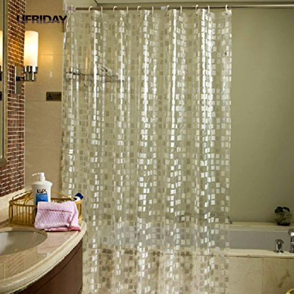 """Rock Texture Shower Curtain Liner Waterproof Fabric /& 12 Hooks Bath Mat 72x72/"""""""