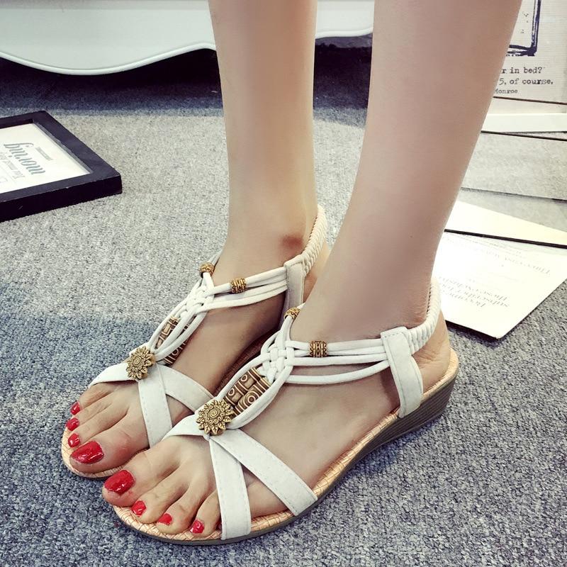 59ebadd2cb4 ... Women Sandals 2019 Summer Sandals Slip On Wedge Sandals Shoes Female Flip  Flops Gladiator Women Shoes ...