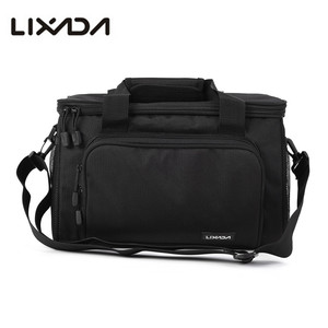 Image 4 - Lixada 낚시 가방 휴대용 다기능 캔버스 낚시 유혹 릴 어깨 허리 배낭 가방 잉어 Pesca 37*25*25cm