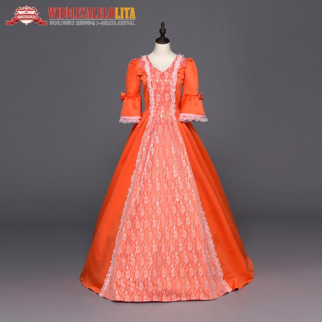 Southern Belle Ball Gown Reenactment Clothing Medieval Marie ...