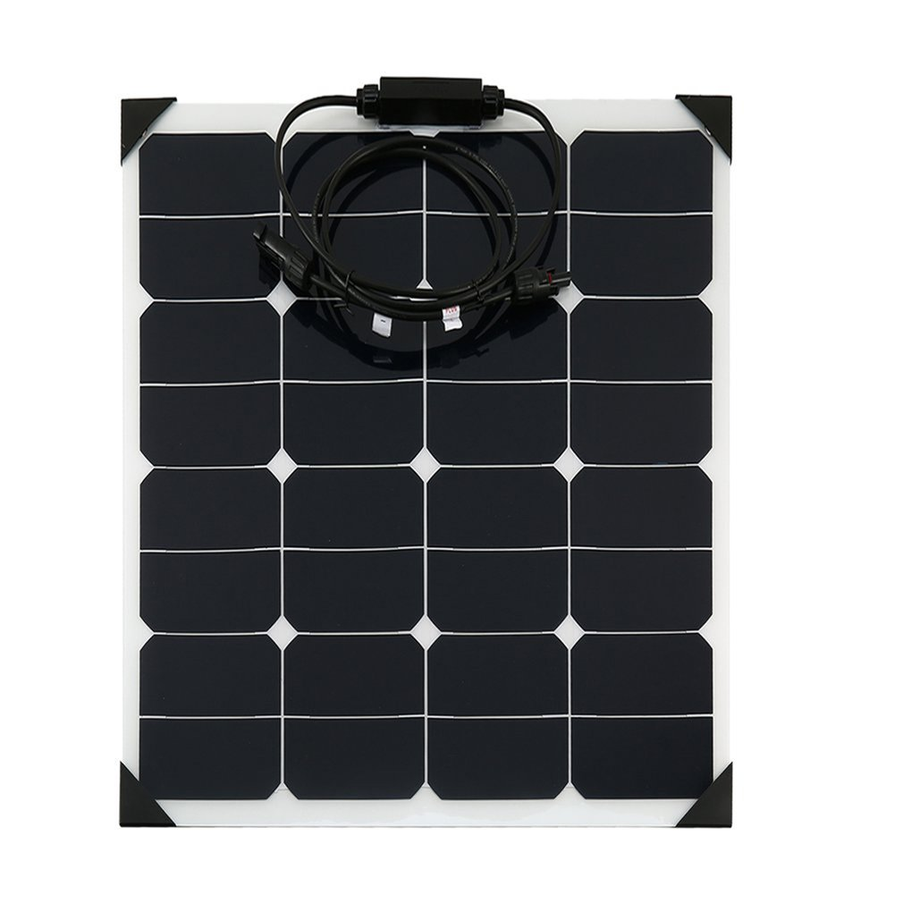 18V 50W Flexible Car Battery Solar Charger Portable Solar Panel Charger For Battery Charging Sun Power Charger new solar panel 30000mah diy waterproof power bank 2 usb solar charger case external battery charger accessories