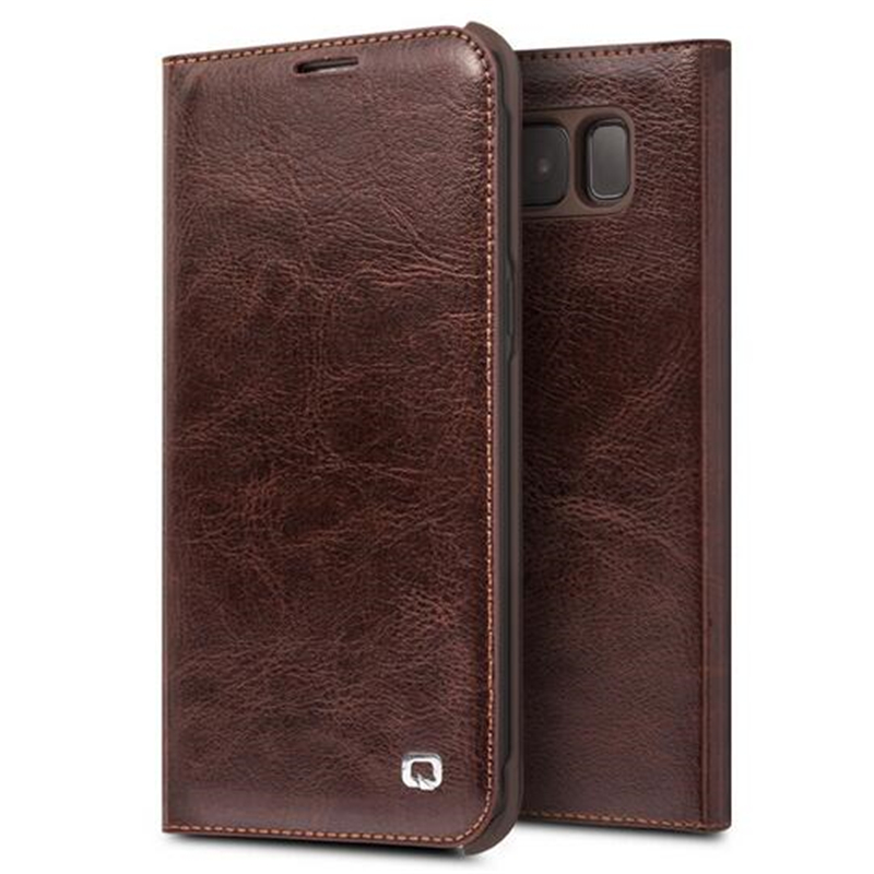 QIALINO Genuine Leather Case for Samsung Galaxy S8 & S8 Plus Leather Bag Flip Wallet Ultra Thin Cover for Samsung S8 / S8 Plus