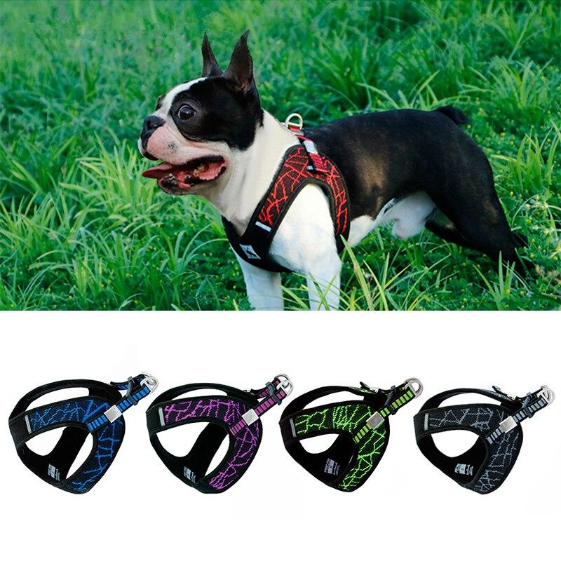 Keine-pull Sport Reflektierende Hund Harness Für Kleine Medium Large Hund Pitbull Bulldog Outdoor Hund Training Walking Sicherheit Weste harness