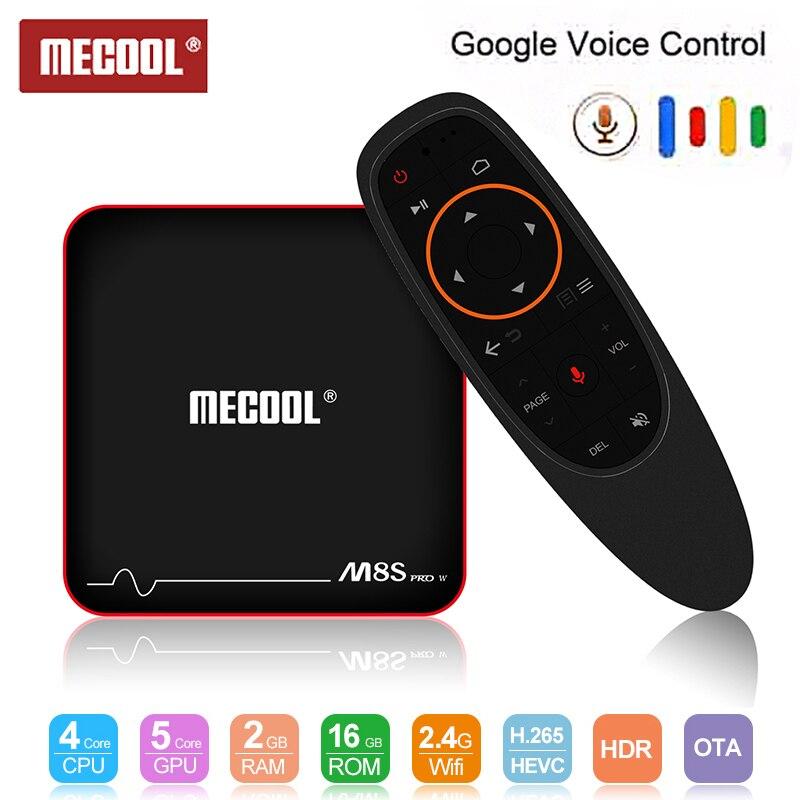 Mecool M8S PRO W TV Boîte S905W contrôle vocal Set Top Box 2.4G boîtier de smart TV Android 7.1 4 k boîtier de télévision androïde 4 k lecteur multimédia