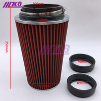 New Universal Kits Auto Air Intake 76mm 89mm 100mm High Flow Mushroom Air Filter Reuseable Fuel