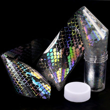 Blueness 1Roll Snake Skin Design Laser Holographic Nails Art Transfer Foil Stickers Nail Adhesives Decorations Supplies Decals