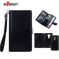 2 In 1 Detachable Leather Wallet Flip Cover Case For LG G4 G5 Case Cover For