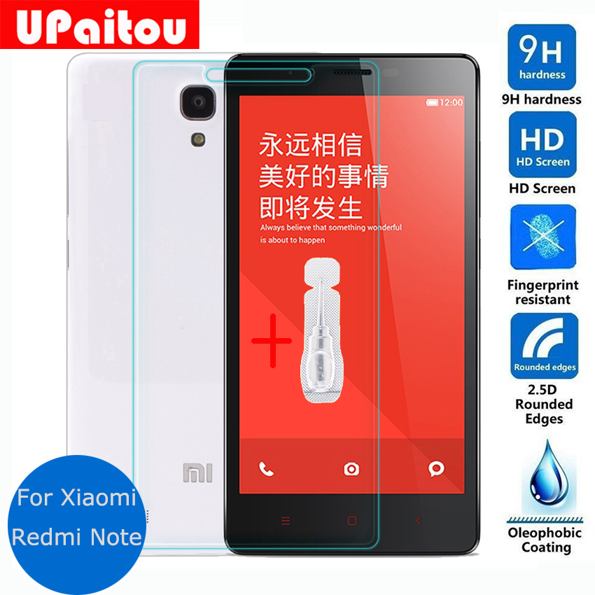 UPaitou For Xiaomi Redmi note 3 2 1 Tempered Glass Screen Protector 9h Protective Film on Hongmi Note2 Note3 red rice Dual sim