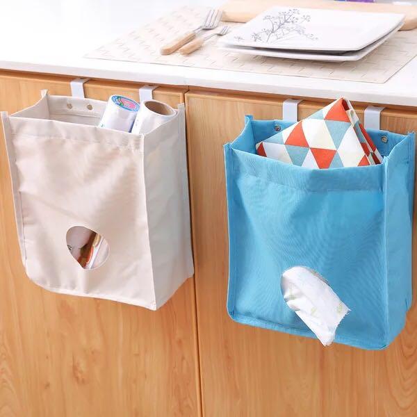 1pc Hanging Cabinet Rubbish Trash Bag Storage Bags Cupboard Door Back Grocery  Bag Organizer Container Hook Kitchen Holder  In Storage Holders U0026 Racks  From ...