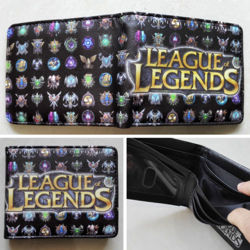 2018 Online game League of Legends LOL Logo 02 wallets Purse Multi Leather W224