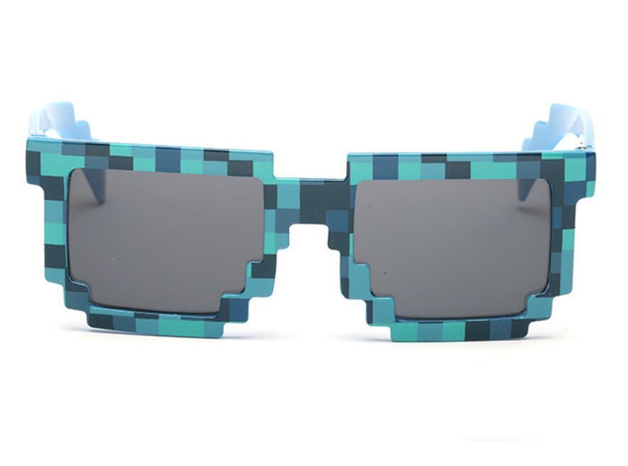 Модные солнцезащитные очки 5 цветов, детские игрушки для костюмированной игры, квадратные солнцезащитные очки для мальчиков и девочек, подарок на день рождения - Цвет: Синий
