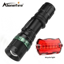 E3 Waterproof CREE 2000 Lumen torch Tactical Zoom Cree led flashlight Light For 18650 Battery lanternas led cree+bicycle lights