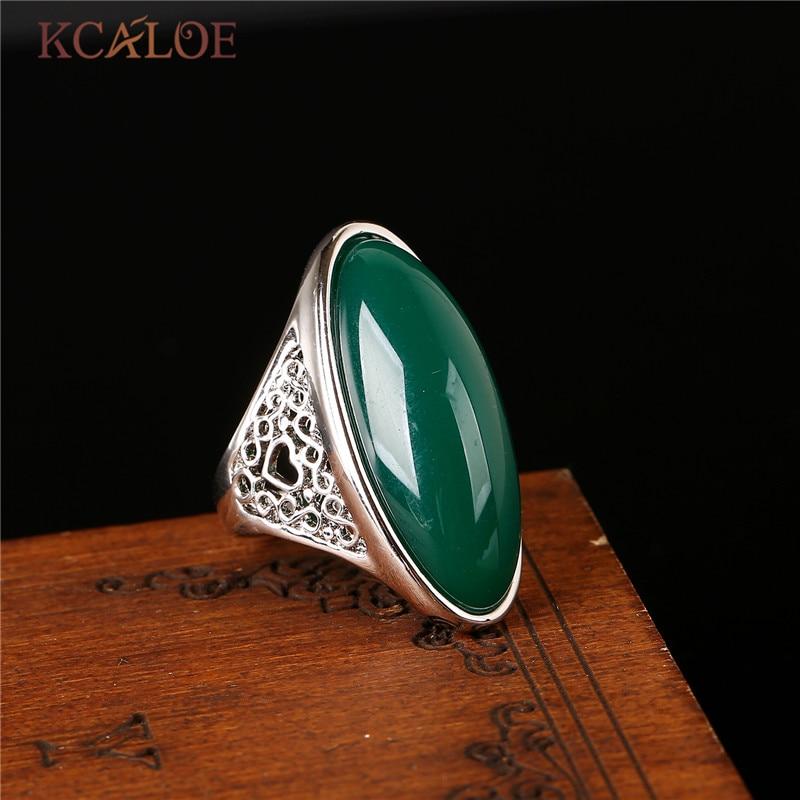 KCALOE natuursteen gele stenen Ring Rose goud kleur sieraden bagues - Mode-sieraden - Foto 6
