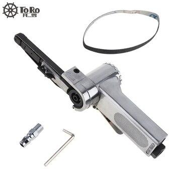 Linear 7100 10mm Pneumatische Luft Gürtel Sander Zeichnung Maschine Polieren Schleifen druckguss Aluminium Werkzeuge mit 2 stücke schleifen Gürtel