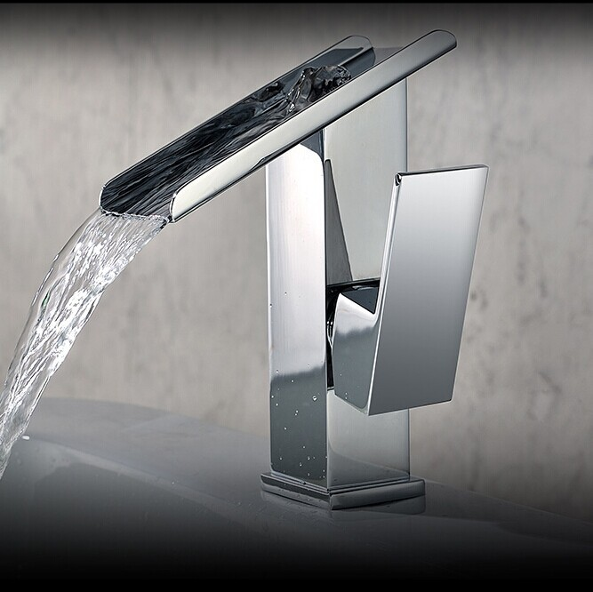 Single handle brass basin faucet classic bathroom faucet waterfall faucet mixer tap for bathroom cold and hot mixer