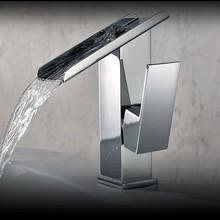 Mitigeur en laiton bassin robinet classique salle de bains robinet cascade robinet mitigeur pour salle de bains