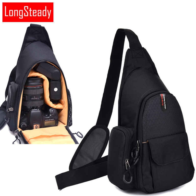 Camera Shoulder Bag Backpack Chest Bag For Canon EOS 77D 5D Mark III 70D 7D 5D Mark II 6D 5DS 5DR 600D 700D 750D 760D 1300D 200D цифровая фотокамера canon eos 7d mark ii body wi fi adapter 9128b128