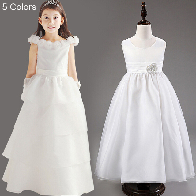 3 15 Years Flower Girls Ball Gown Empire Waist Sleeveless Princess ...