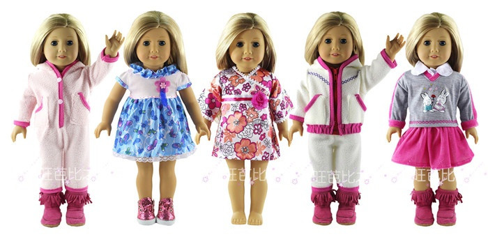 5 Set Doll Clothes For 18 Inch American Girl Doll Handmade Casual Wear new style 10 set doll clothes for 18 inch american girl handmade casual wear