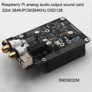 Image 3 - ES9038q2m DAC فك الترميز الرقمي لوحة البث مب1612 Op لتوت العليق Pi فك إلى I2S 32BIT 384KHZ DSD128