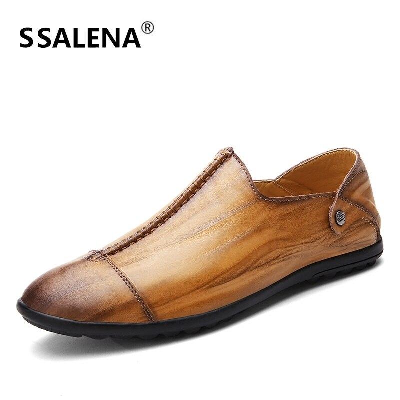 En Cuir souple Hommes Mocassins Casual Slip Sur La Conduite Chaussures Hommes Doux Semelle Confortable Mocassins Pour Hommes Plat Chaussures grande taille 36-50 B2865