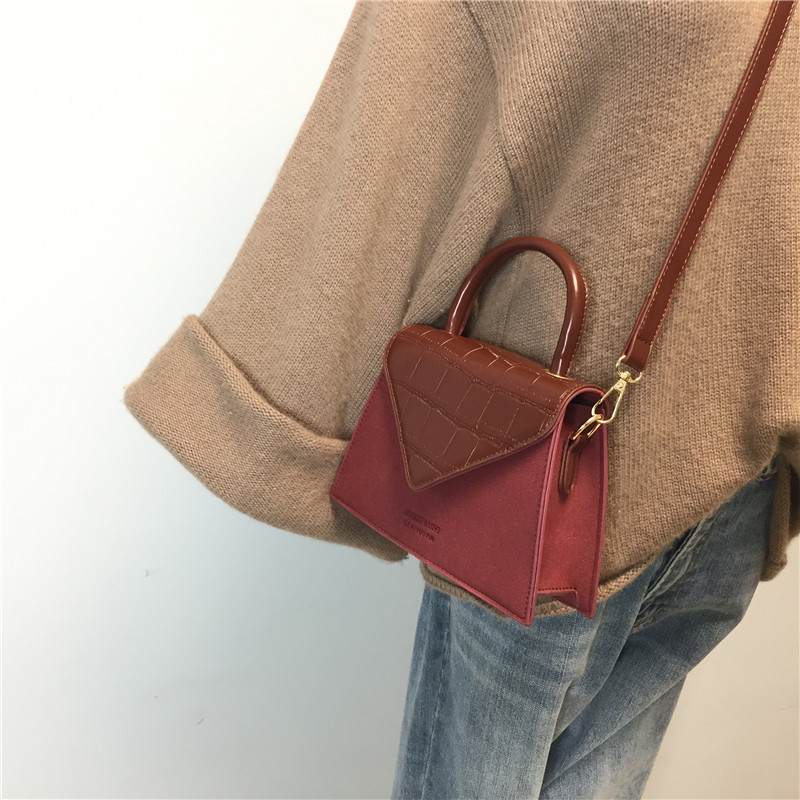 Small  Spring And Summer 2019 New Leather Handbag Super Women's Messenger Bags Retro Single Shoulder Bag Tidal