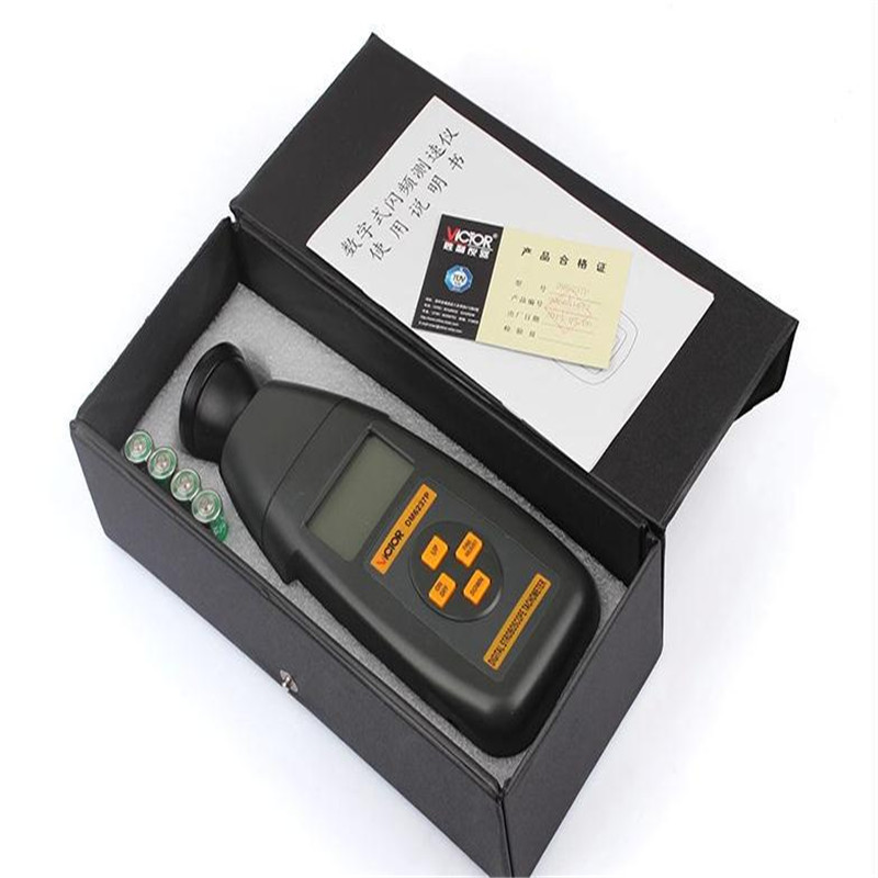 VICTOR DM6237P Digital Stroboscope Tachometer 60 to 19999RPM measuring range VC DM6237P VC 6237P Tachometer hot sale professional digital non contact stroboscope dm6237p flash frequency meter 60 19 999 rpm per minute tachometer tester