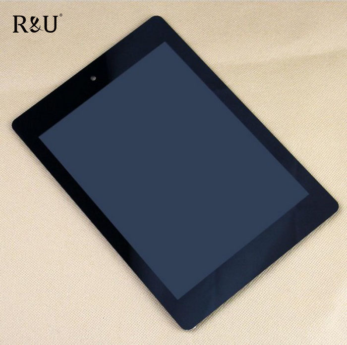 R&U 7.9 inch Full LCD Display Panel Touch Screen Digitizer Assembly For Acer Iconia A1 A1-810 Tablet PC black, free shipping
