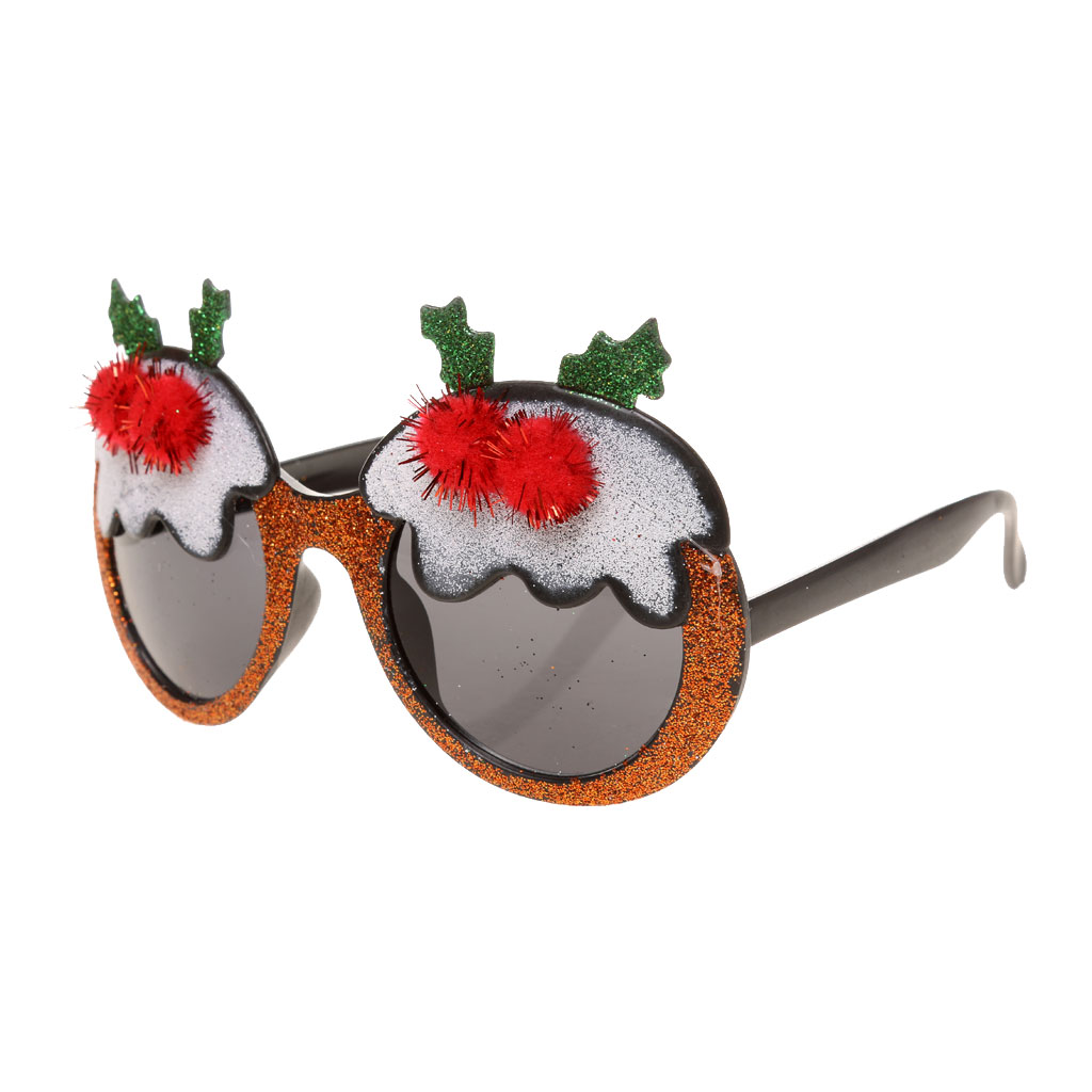 Hot Christmas Party Reindeer Glitter Glasses Fancy Dress Novelty Sunglasses Partty Favors Creative Gifts Christmas Accessories