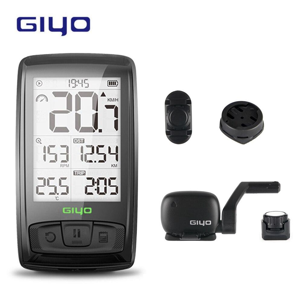 GIYO sans fil Bluetooth vélo ordinateur support de montage vélo compteur de vitesse vitesse/Cadence capteur étanche vélo ordinateur