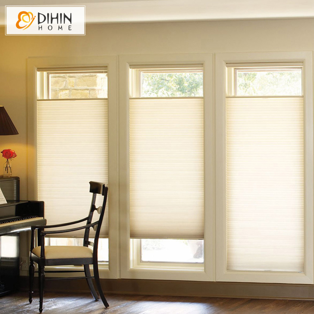 Dihin Home Blackout Cellular Honeycomb Blinds Shades Customized Curtain Window Treatment Many Colors For Choose Free