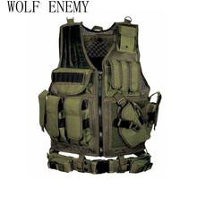 Police Military Tactical Vest Wargame Body Armor Sports Wear