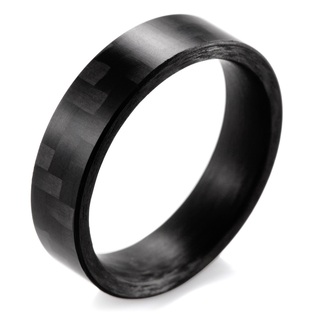 Shardon 6mm High Tech Matte Finish Solid Carbon Fiber Ring Black Wedding Band Men Fashion Rings Engagementin Bands From Jewelry: Male Wedding Bands Carbon Black At Reisefeber.org
