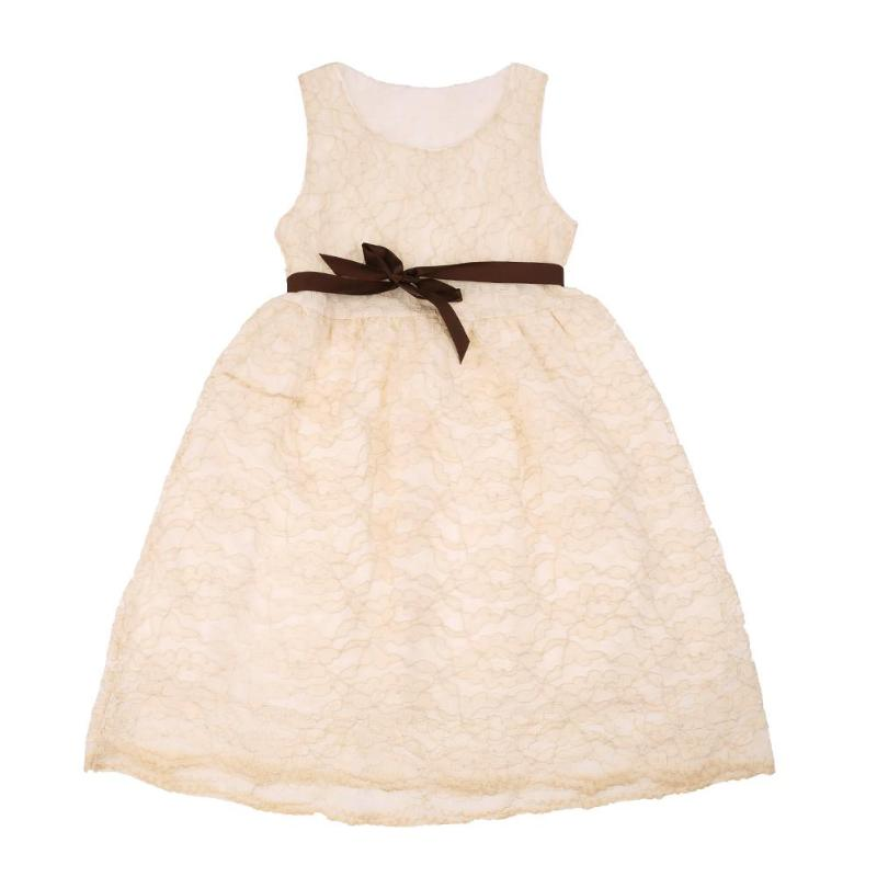 Summer Kids Girls Sleeveless Lace Dress O-Neck Elegance Princess Hollow Out Lace Dress Girls Party Vestidos Children Clothing 2017 new fashion spring summer girls clothing sleeveless hollow out lace dress for kids children tutu vest dress pink white