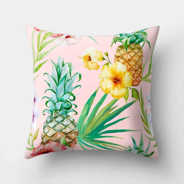 Abacaxi Tropical Padrão Poliéster Throw Pillow Capa de Almofada Carro Decoração Decoração de Casa Sofá Cama Fronha Decorativa 40509