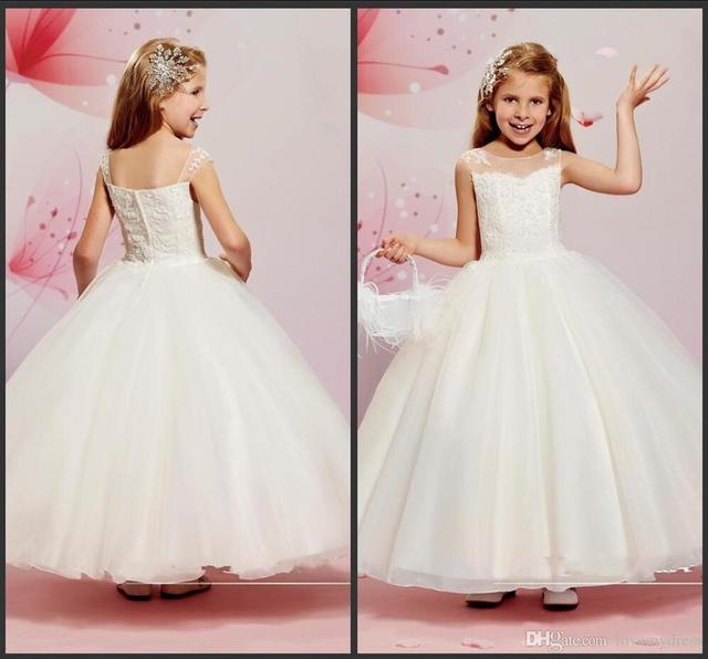 Vestidos de fiesta blancos para ninas