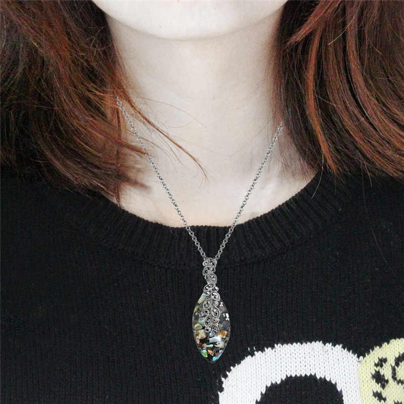 Blatt Shell Schmuck-Set Halsband Halskette Ohrringe Ringe Für Frauen Edelstahl Kette Party Geschenk