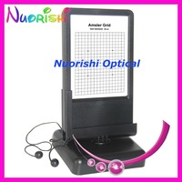 W100 Double side Reading Black and White Amsler Grid Led Illuminated 30cm Near Visual Acuity Vision Chart
