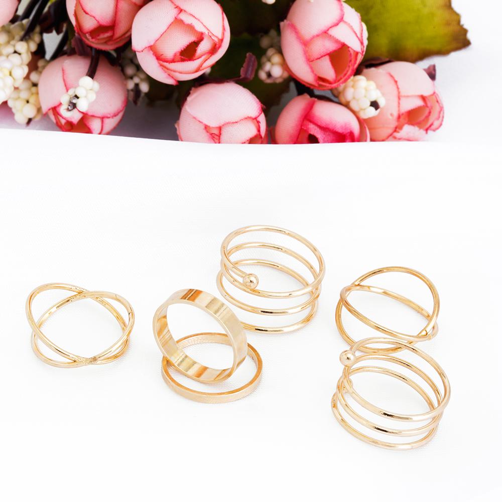 HTB1Qgq7RpXXXXaRXVXXq6xXFXXXV Posh 6-Pieces Cuff Finger Ring Gift Set For Women - 2 Colors