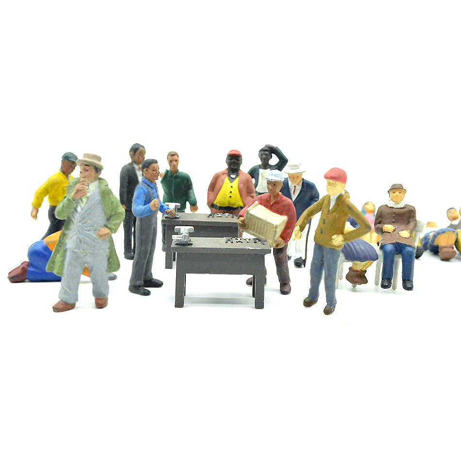Building Model People Painted Figure 1/43 Scale Boutique Villain Twenty Suits For Sand Table Making Characters Diorama  Plastic