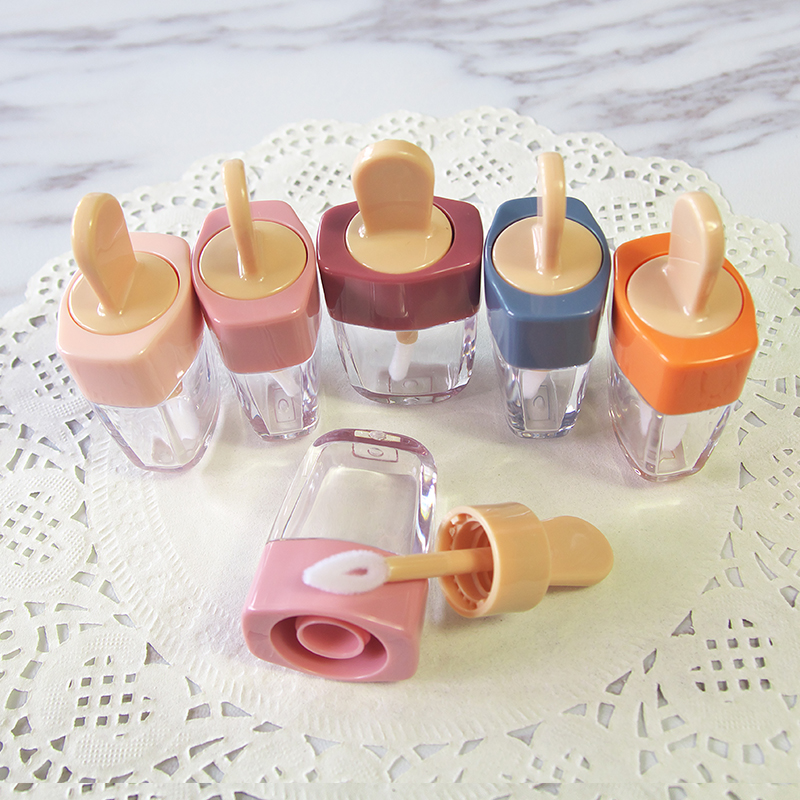 Colorful Empty DIY Lip Gloss Bottles Pink Green Orange Sweet Ice Cream Shape Cute Lipgloss Lipstick Tube for Girls 20pcs/lot image