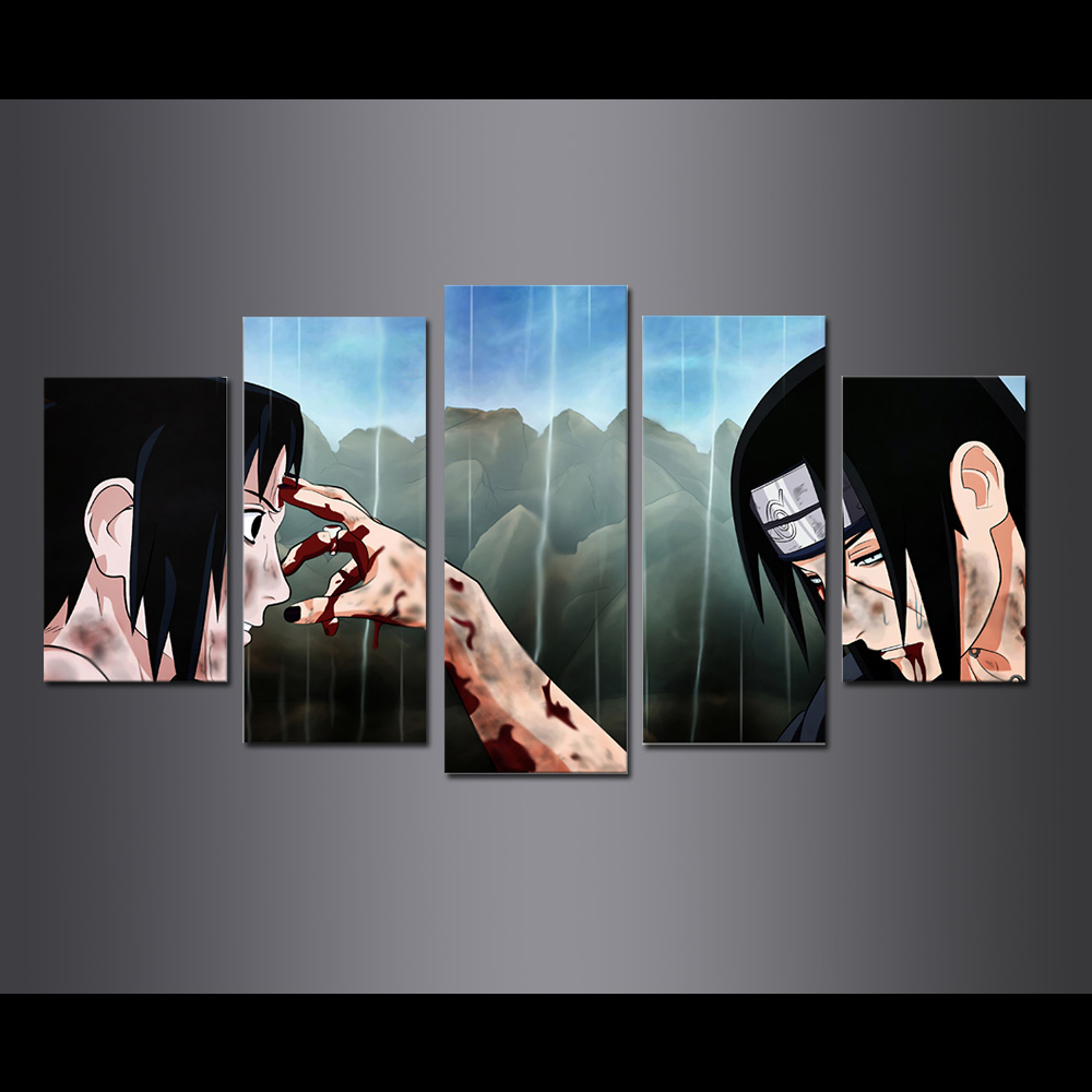 Unframed Canvas Prints Anima Naruto Sasuke Brothers Giclee Modular Picture Wall Pictures For Living Room Wall Art Decoration