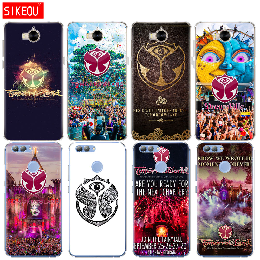 Silicone phone Cover Case for huawei Y3 Y6 Y5 2 II 2017 nova 2s 2 LITE plus Tomorrowland Electronic Music Festival