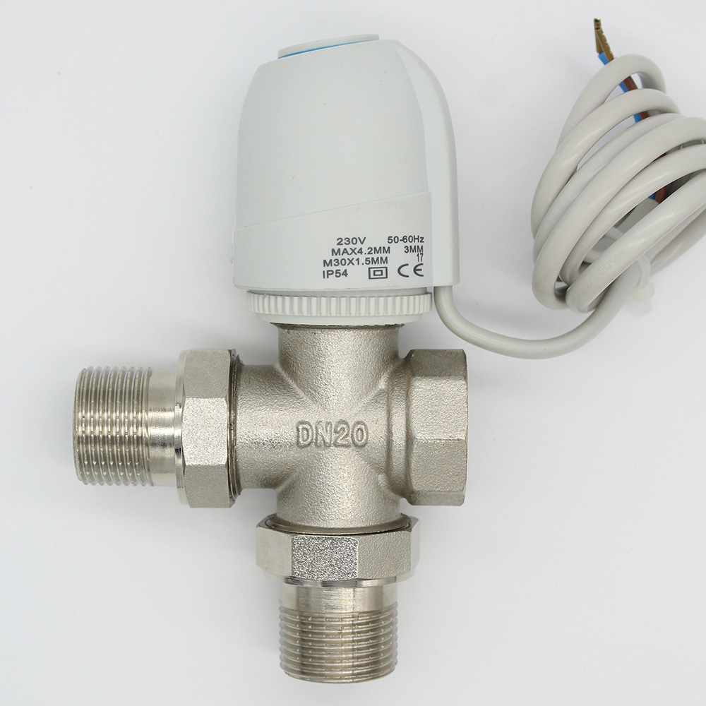 24V  Normally Open  Normally close  Electric Thermal Actuator for room temperature control  three way valve DN15-DN25 ac 250v 20a normal close 60c temperature control switch bimetal thermostat