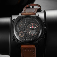 купить New Sport Mens Watches Casual Leather Tech Wristwatch 3ATM Luxury LED Digital Watch TOP Brand KADEMAN Business Relogio Masculino по цене 1421.43 рублей