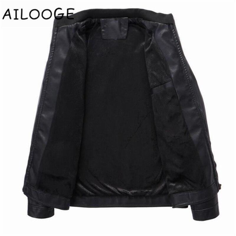 Survêtement Vêtements Casual Nouvelle Solide De Pu Black Marque Moto Veste Hiver Vestes Automne Cuir Hommes Mode Élastique 2018 a8qnwxPv8
