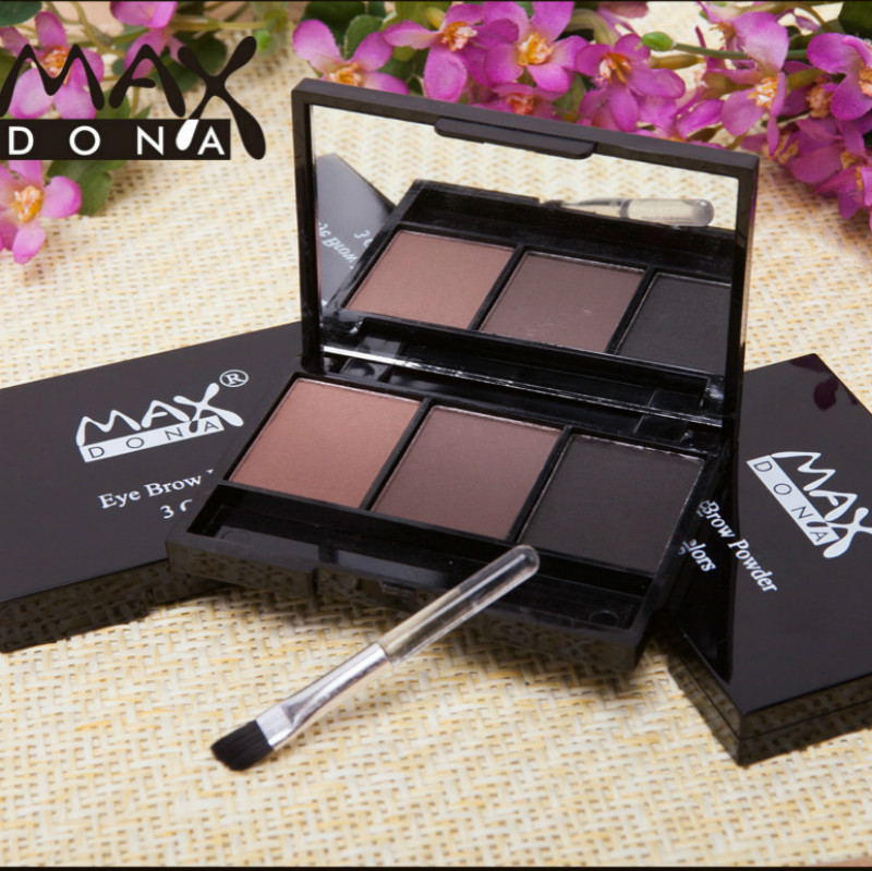 3 Color Matte Eyebrow Powder Palette Cosmetic Brand Eye Brow Professional Waterproof Makeup Eye Shadow With Eyes Beauty Tool